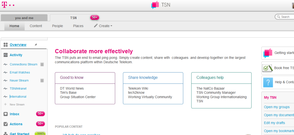 Deutsche Telekom TSN Screenshot